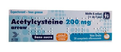 Image Arrow Acetylcysteine 200mg (20 comprimés effervescents)